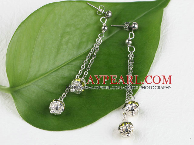dingler stil coloful rhinestone ball øredobber