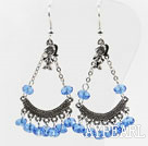Wholesale lovely white crystal earrings with girl charm