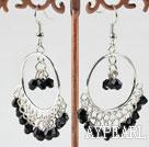 Wholesale fashion 4mm black crystal earrings
