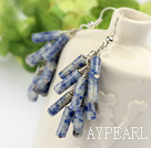 Wholesale Firecracker Shape Blue Spot Stone Earrings