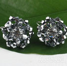 lovely gray and white crystal earrings