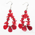 Wholesale red coral earrings