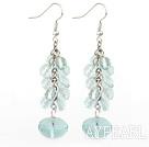 Wholesale switzerland blue crystal earrings