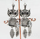 lovely owl animal shape tibet siver earrings