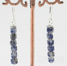 cute 4mm square shape sodalite earrings