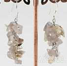 Wholesale 6-7mm cluster style gray agate chips earrings