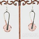 Wholesale pink crystal earrings