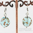 Cute Style Light Blue Colored Glaze Earrings