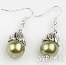 Simple Style Yellow Green Color Shell Beads Earrings