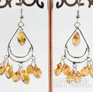 Wholesale lovely mandmade yellow crystal earrings