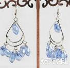 Wholesale lovely light blue crystal earrings