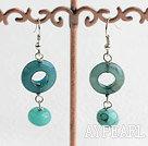 Wholesale blue jade earrings
