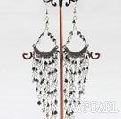 Wholesale popular silver color mandmade crystal earrings