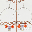 Wholesale Large-diameter circle fashion charm earrings