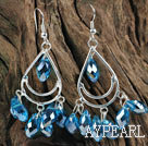 Wholesale cute drop shape sky blue manmade crystal earrings