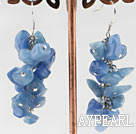 Wholesale cluster style kyanite chips stone earrings