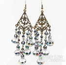 Vintage Style Multi Color Crystal Earrings