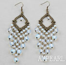 Wholesale Vintage Style Opal Crystal Chandelier Earrings
