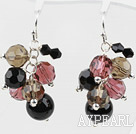 Wholesale Assorted Multi Color Crystal and Black Agate Earrings