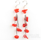 Wholesale dangling style coral earrings
