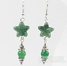 Starfish Shape Aventurine Dangle Earrings