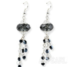 Wholesale New Design Black Colored Glaze Charm Earrings