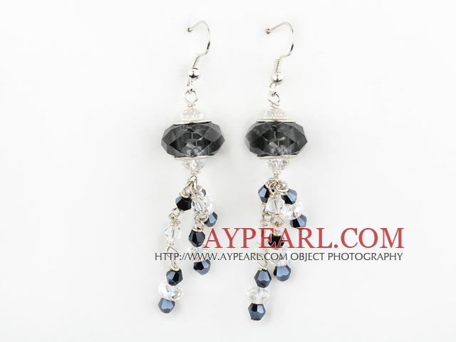 New Design Black Colored Glaze Charm Earrings