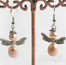 Wholesale natural purple pearl earrings