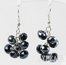 Wholesale Cluster Style Black Crystal Earrings