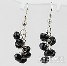 Wholesale Simple Style Black Crystal Earrings