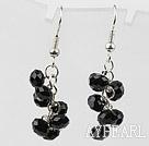 Wholesale Simple Style Black Crystal Earrings