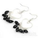 Wholesale Heart Shape Black Crystal Fashion Earrings