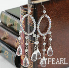 New Design Assort Clear Crystal Drop Earrings