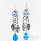 Wholesale Long Style Blue Crystal Drop Earrings