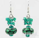 Wholesale New Design Green Colored Glaze Charm Earrings