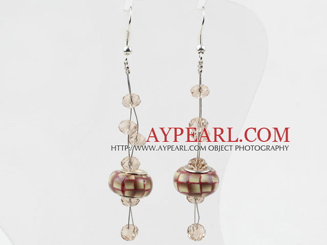 New Design European Colored Glaze Charm Dangle Earrings With Fish Hook