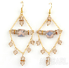 Wholesale New Design Crystal and Colored Glaze Charm Earrings