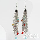 New Design Multi Color Crystal Dangle korvakorut