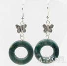 Indian Agate Donuts Earrings