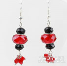 Wholesale Black and Red Crystal Dangle Earrings