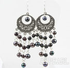 Wholesale Black Freshwater Pearl Earrings