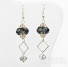Wholesale Colored Glaze and Crystal Charm Earrings