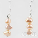 Simple Style Pink Freshwater Pearl Beaded Earrings