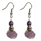 Beautiful Irregular Shape Amethyst Dangle Earrings