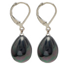 Classic Design Black with Colorful Drop Shape Seashell Earrings