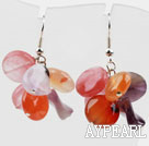 Ny design Blandade Ametist och Agate och Cherry Quartz Earrings