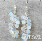 Gourd Shape Opal Crystal Earrings