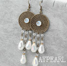 Assorted Opal Crystal Earrings with Bronze Accessories