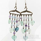 Wholesale Vintage Style Rainbow fluorite Earrings