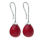 Classic Design Drop Shape Red Seashell Beads Earrings